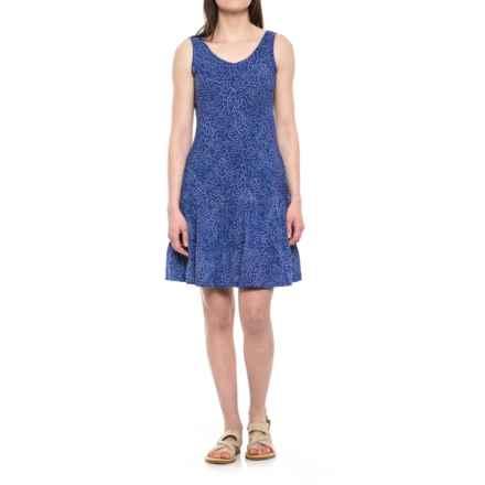Ojai Weekend Batik Dress - Sleeveless (For Women) in Cobalt Blue Dots - Closeouts