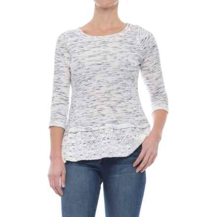 Ojai Weekend Pullover Shirt - 3/4 Sleeve (For Women) in Indigo Slub - Closeouts