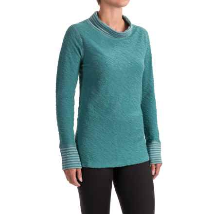 Ojai Yoga Turtleneck - Cotton Blend, Long Sleeve (For Women) in Deep Sea - Closeouts