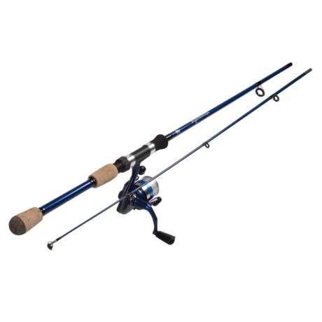 Okuma Fishing Tackle Fin Chaser B Series Spinning Rod and Reel Combo - 2-Piece, 6' in Blue