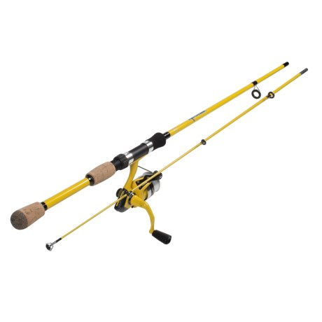 Okuma Fishing Tackle Fin Chaser B Series Spinning Rod and Reel Combo - 2-Piece, 6' in Yellow