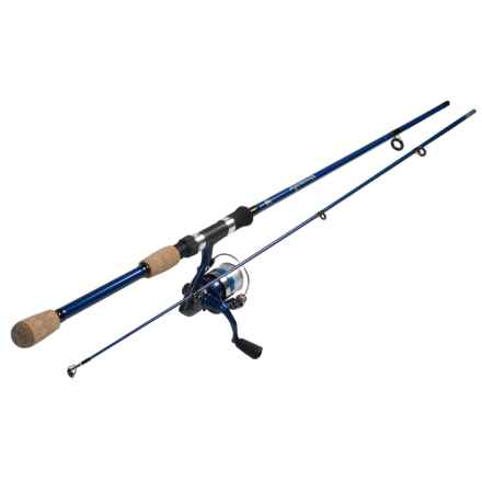 "Okuma Fishing Tackle Fin Chaser B Series Spinning Rod and Reel Combo - 2-Piece, 6'6"" in Blue - Closeouts"