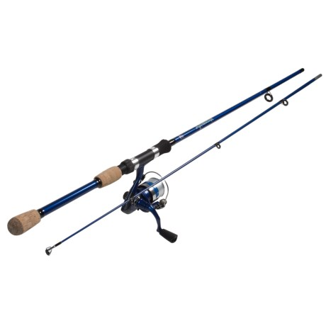 "Okuma Fishing Tackle Fin Chaser B Series Spinning Rod and Reel Combo - 2-Piece, 6'6"" in Blue"