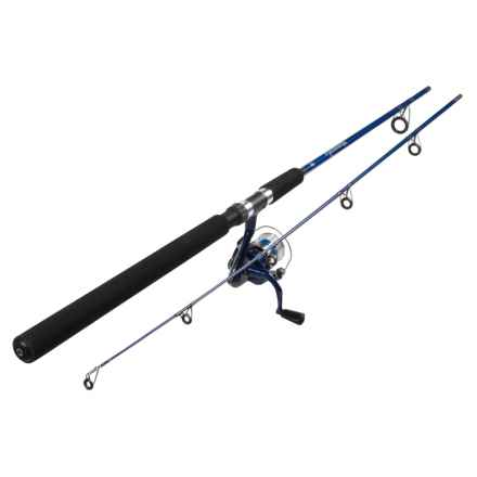 Okuma Fishing Tackle Fin Chaser Spinning Rod and Reel Combo - 2-Piece, 8' in Blue - Closeouts