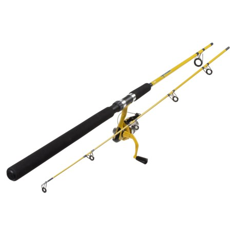 Okuma Fishing Tackle Fin Chaser Spinning Rod and Reel Combo - 2-Piece, 8' in Yellow
