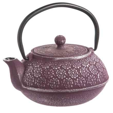 Old Dutch International Cast Iron Cherry Blossom Teapot - 22 oz. in Plum - Overstock
