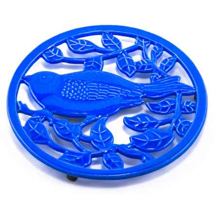 Old Dutch International Cast Iron Little Birdie Trivet in Dazzling Blue - Closeouts