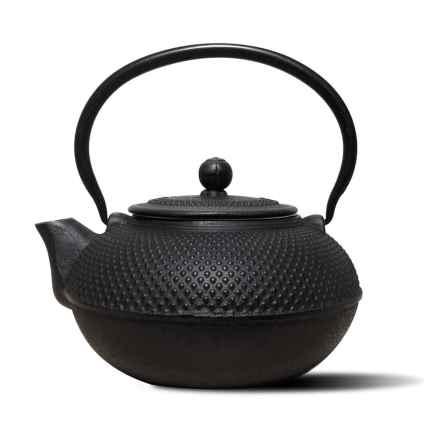 Old Dutch International Cast Iron Saga Teapot - 52 oz. in Matte Black - Overstock