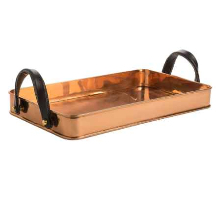 Old Dutch International Cheyenne Copper Tray - Leather Handles in Copper - Overstock