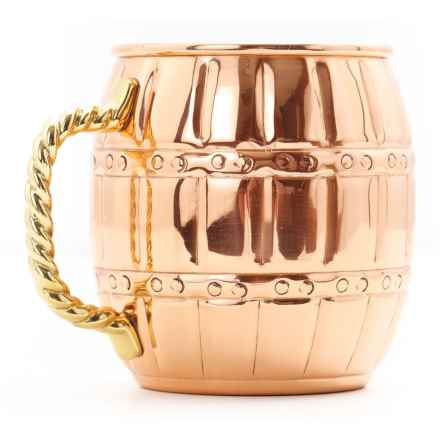 Old Dutch International Solid Copper Barrel Moscow Mule Mug - 16 fl.oz. in Copper - Closeouts
