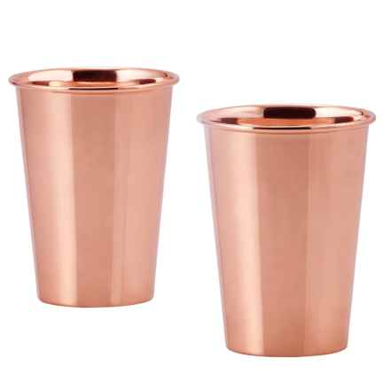 Old Dutch International Solid Copper Flared Tumblers - 12 fl.oz., Set of 2 in Copper - Closeouts