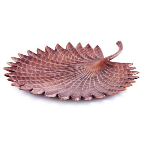 Old Dutch International Tribal Antique Copper Finish Aluminum Leaf Tray in Antique Copper