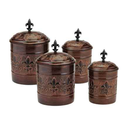 Old Dutch International Versailles Canister Set - 4-Piece in Antique Copper - Closeouts