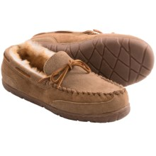 Old Friend Camp Moc Slippers - Shearling Lining (For Men) in Tan - Closeouts