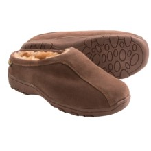 Old Friend Footwear Alpine Slippers - Sheepskin Lining (For Men and Women) in Dark Brown - Closeouts