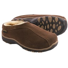 Old Friend Footwear Alpine Slippers - Suede, Sheepskin Lined (For Women) in Dark Brown - Closeouts