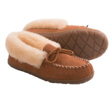 Old Friend Footwear Fina Moc Slippers - Sheepskin Lining (For Women) in Tan - Closeouts