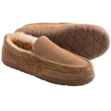 Old Friend Footwear Lodge Moc Slippers - Sheepskin Lining (For Men) in Tan - Closeouts