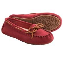 Old Friend Jemma Moc Slippers - Sheepskin Footbed (For Women) in Ruby - Closeouts