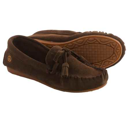 Old Friend Peace Mocs by  Doris Moccasins - Suede (For Women) in Chocolate Brown - Closeouts