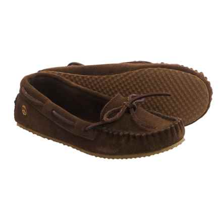Old Friend Peace Mocs by  Tabitha Moccasins - Suede (For Women) in Chocolate - Closeouts