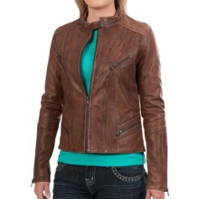 Old Gringo Alma Distressed Leather Jacket - Tailored Fit (For Women) in Antique Brown