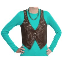 Old Gringo Cindy Leather Vest (For Women) in Dark Brown - Closeouts