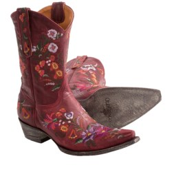 "Old Gringo Jasmine Cowboy Boots - 10"" (For Women) in Red"