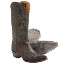 """Old Gringo Lauren Cowboy Boots - Leather, 13"""" (For Women) in Brass/Turquoise - Closeouts"""
