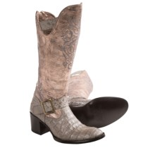 Old Gringo Noctua Caiman Cowboy Boots - Round Toe (For Women) in Grey - Closeouts