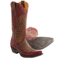 "Old Gringo Tabetha Cowboy Boots - Leather, 13"" (For Women) in Brass/Red - Closeouts"