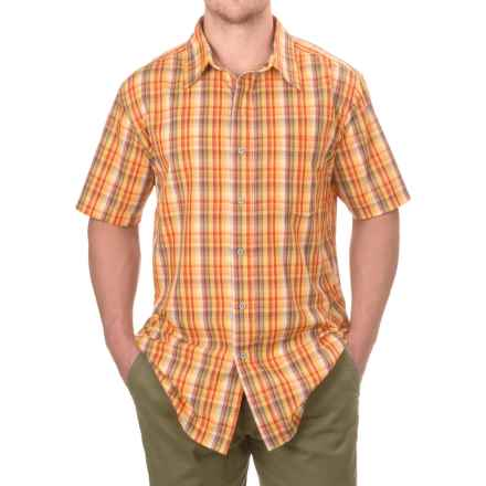 Old Mill High-Performance Plaid Shirt - Short Sleeve (For Men) in Orange/Red - Closeouts