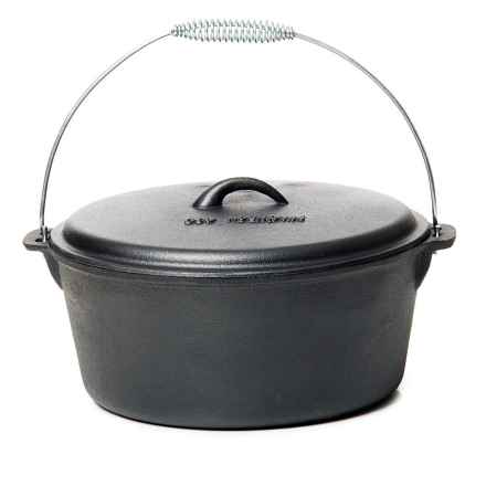 Old Mountain Cast Iron Flat-Bottom Dutch Oven - 8 qt. in Black - Overstock