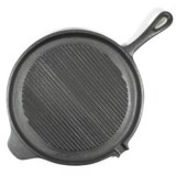 Old Mountain Cast Iron Round Grill Pan - 11""