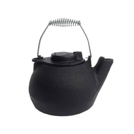Old Mountain Cast Iron Tea Kettle - 2 qt. in Black - Overstock