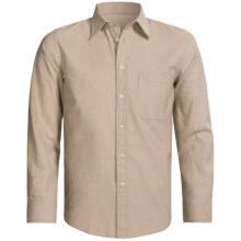 Old Taylor Sport Shirt - Cotton-Linen, Point Collar, Long Sleeve (For Men) in Beige - Closeouts
