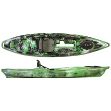 """Old Town Predator XL Angler Kayak - 13'2"""" in Lime Camo - Closeouts"""