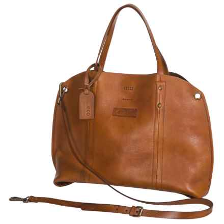 Old Trend Forest Hill Tote Bag - Italian Leather (For Women) in Chestnut - Closeouts