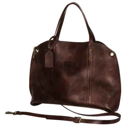 Old Trend Forest Hill Tote Bag - Italian Leather (For Women) in Rusty Red - Closeouts