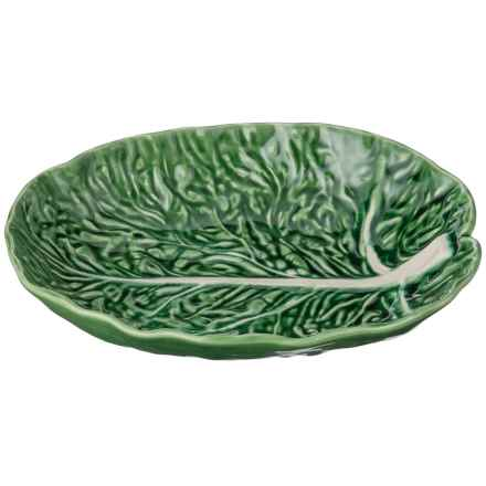 """Olfaire Cabbage Leaf Serving Dish - 12"""" in Green - Closeouts"""