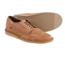 Oliberte Manilo Wingtip Shoes (For Men) in Camel Pull Up - Closeouts