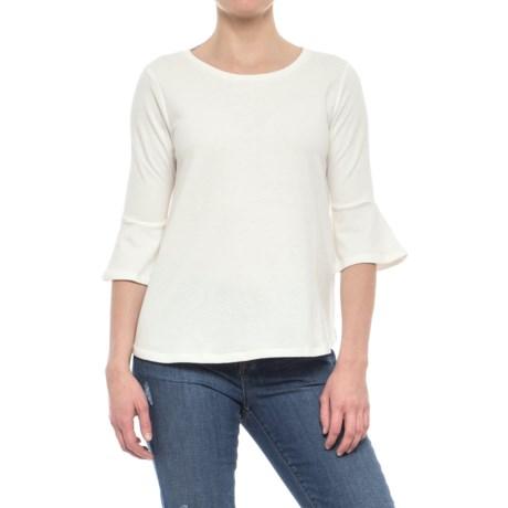 Olive & Oak Bell Sleeve Shirt - Elbow Sleeve (For Women) in White
