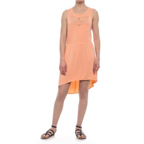 Olive & Oak Elasticized Waist Dress - Sleeveless (For Women) in Tapas Peach