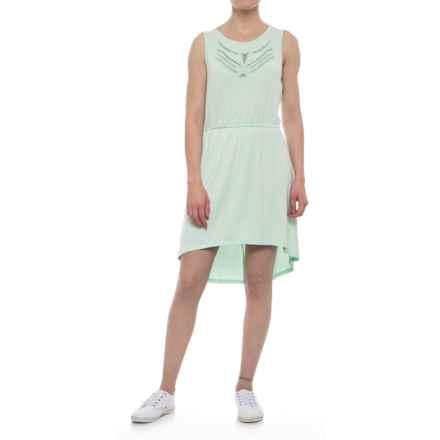 Olive & Oak Elasticized Waist Dress - Sleeveless (For Women) in Washed Aqua - Closeouts