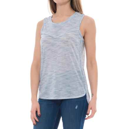 Olive & Oak Plain Tank Top - V-Neck (For Women) in Navy - Closeouts