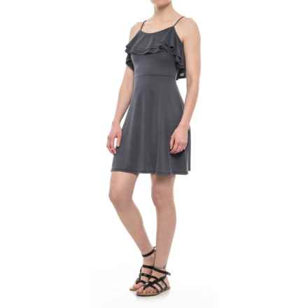Olive & Oak Ruffle Dress - Sleeveless (For Women) in Charcoal - Closeouts
