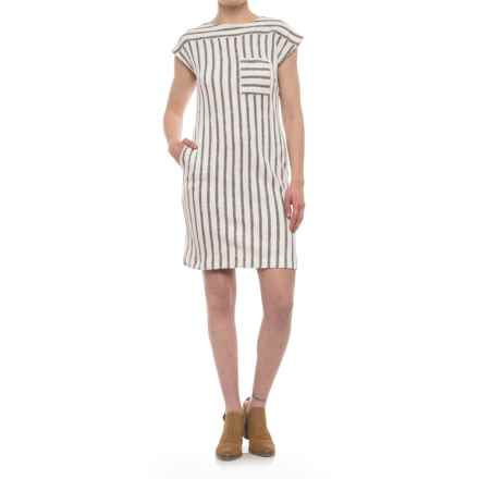 Olive & Oak Striped Pocket Dress - Sleeveless (For Women) in Navy/Ivory Combo - Closeouts