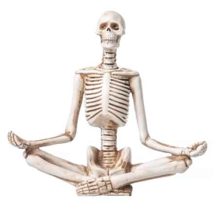 "Olive & Thyme Zen Pose Skeleton - 8x9"" in Antique White - Closeouts"