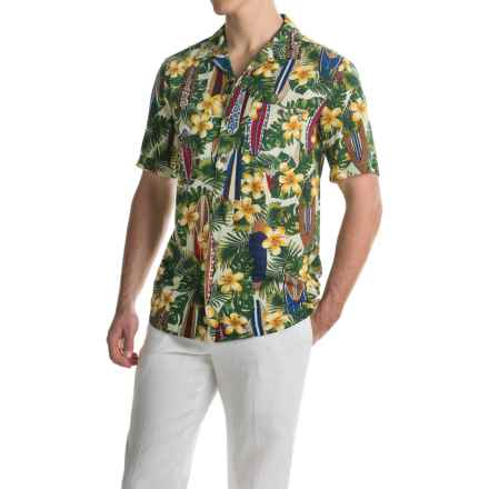 Oliver & Burke Surfboard Shirt - Short Sleeve (For Men) in Jungle Green - Closeouts