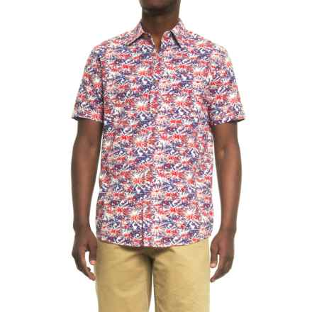 Oliver & Burke Tropical Shirt - Short Sleeve ( For Men) in Blue/Paintbomb - Overstock